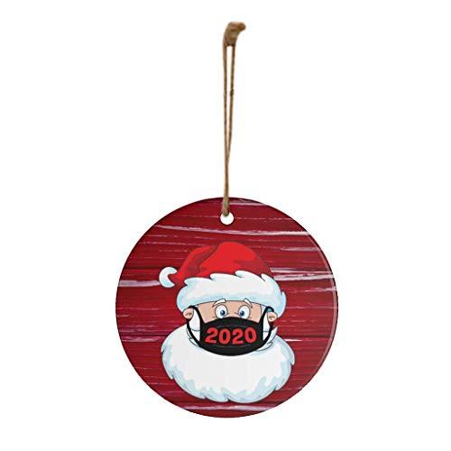Ansenesna Weihnachten Anhänger Holz Figuren Klein Elch Schneemann Weihnachtsmann Weihnachtsbaumschmuck Holzanhänger Holzfiguren Deko Christmas Schmuck (T1)
