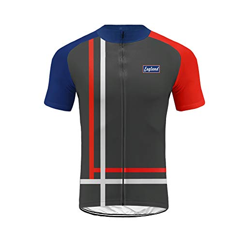 Uglyfrog UK National Flag Cycling jersey for men short sleeve Tops Lightweight Breathable Quick Dry Summer Warm MTB Mountain Bicycle Bike Racing Short Sleeve T-Shirt For Sports, Outdoor DC-UKHDXJ04