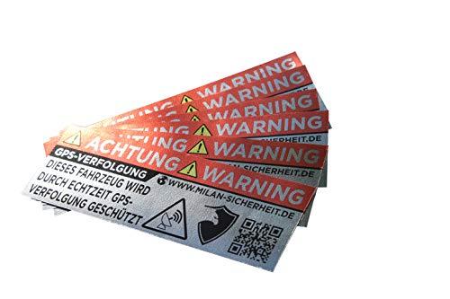 GRIP&BENDER 6 Stück GPS Sticker | Ortungs-GPS-Signal gesichert | inkl. Webseite auf...