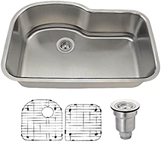346 16 Gauge Stainless Steel Kitchen Ensemble (Bundle - 4 Items: Sink, Basket Strainer, and 2 Sink Grids)