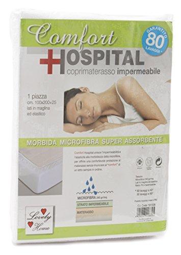 Lovely Home - Coprimaterasso Impermeabile 2 Piazze Letto Matrimoniale Confort Hospital Con Angoli