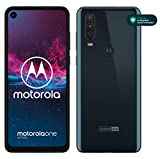 "Motorola One Action - Smartphone Dual SIM (Triple cámara: 12 MP + 5 MP y video de 16 MP con ultra gran angular, 128 GB/4 GB, Pantalla 6,3"" FHD+, Android 9.0) - Color Azul Denim [Versión Española]"