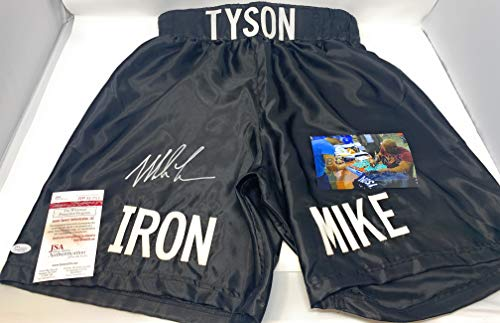Mike Tyson Signed Autograph Boxing Trunks IRON MIKE Edition JSA Witnessed Certified
