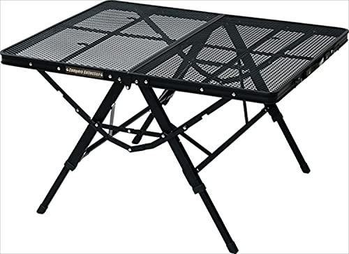 キャンパーズコレクション タフライトアクションテーブル ブラック TAT-8670(MBK) 本体サイズ:幅87.5×奥行70.5×高さ35.5/50/60cm