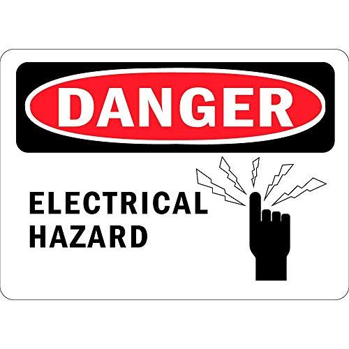 WOOOOL Peligro eléctrico con símbolo retro vintage para pared, cartel de pared...