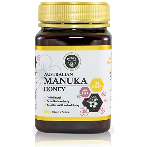 Honey Australia Premium Manuka Honey – Raw Pure MGO 263+ NPA 10+ Wonderful Rich Tasting Certified Manuka Honey For Everyday Health & Wellbeing 17.6 Oz / 500 g