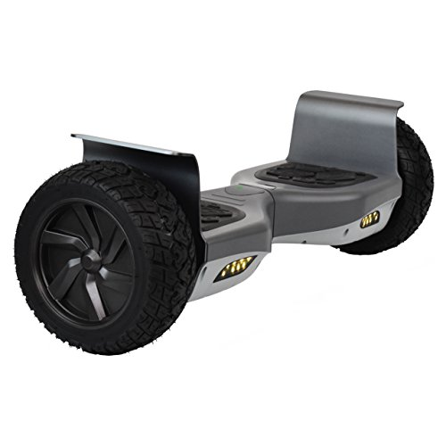 CHO H1 Off-Road Self Balancing Scooter Hoverboard - UL2272 Certified, Bluetooth Speaker 8.5'' Wheels (Grey)