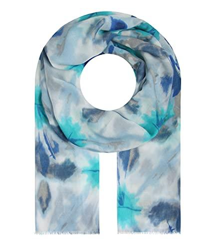Majea Schal Damen Tuch Kopftuch Halstuch Schals und Tücher mit Muster Stola (blau 34)