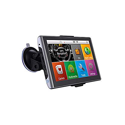 Navigatore GPS da 7 pollici con sistema Android per camper, camion, auto, camper. WiFi, mappe europee, tablet PC, 512 MB. AV-IN, BT. Aggiornamento gratuito.