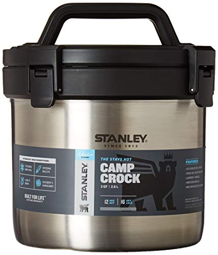 Stanley 3qt Camp Crock - Vacuum Insulated Stainless Steel Pot - Keeps Food Hot for 12 Hrs & Cold for 16 Hrs