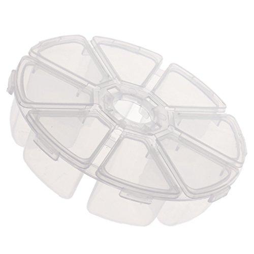 Sharplace Transparente Plektrum Aufbewahrungsbox Plektrenhalter mit 8 Fächern