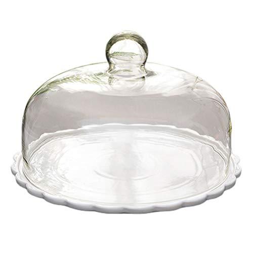 YARNOW 1 Set Kuchen Glasglocke mit...