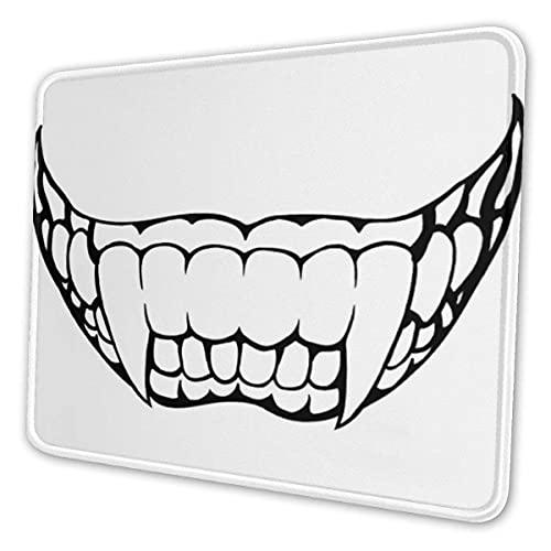 Mauspad Persönlichkeit schreckliche Zähne Muster Mousepad rutschfeste Gummi Gaming Mauspad Rechteck Mauspads für Computer Laptop