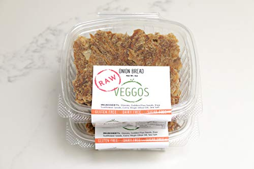 VEGGOS Fresh RAW Vegan Onion Flat Bread Two Packages