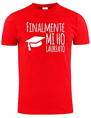 WIXSOO T-Shirt Maglietta Laurea Divertente Premium (L, Rosso)