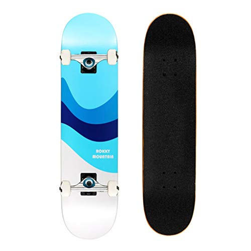 Skateboards Skateboard Maple Vierrad Skateboard Erwachsener Kind Shortboard Tragbarer Freestyle Scooter Free Skateboard Doppel Rocker Banana Vorstand (Color : C, Size : 80 * 19cm)