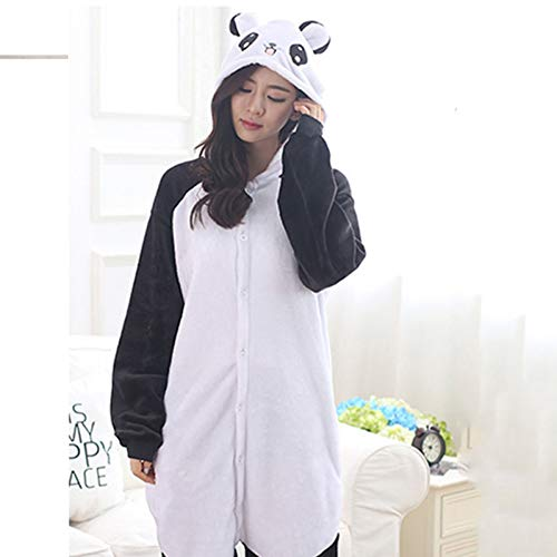GBYAY Adulto Panda Cartoon Cosplay Disfraz Mujer Loose Kid Invierno Animal Onesie Mono Niño Anime Pijamas Ropa de Dormir