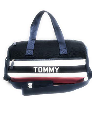 Tommy Hilfiger 5776 - Bolsa de deporte (50 x 30 x 15 cm), diseño con logotipo de Tommy Hilfiger, color azul