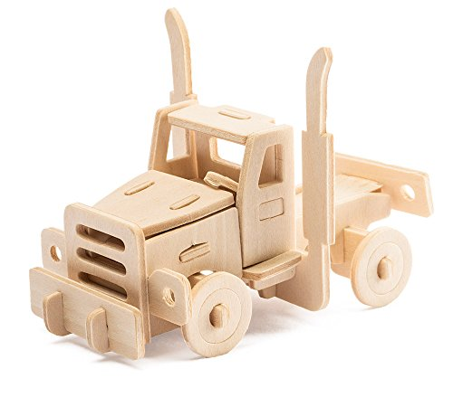Wooden 3D Puzzles Truck Kit Build Car Wooden Truck Kit Car Model World Puzzle 20-pcs Wood Puzzle Car Model Kit (American Truck)
