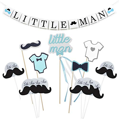 Shxstore - Banderines para bebé, diseño de pajarita, bigote