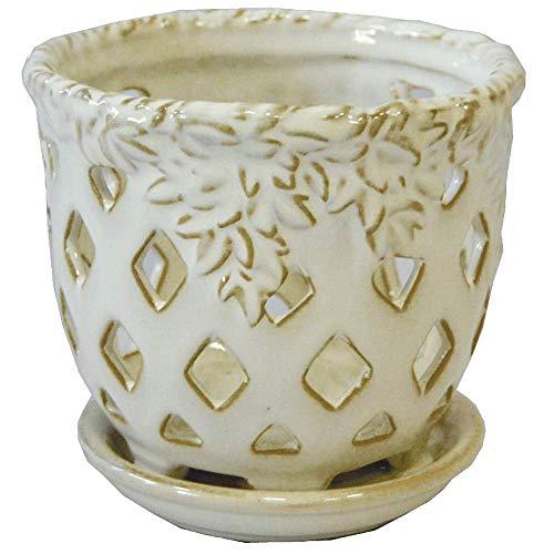 Pennington Glazed Orchid Pots (5-inch, Moonstone)