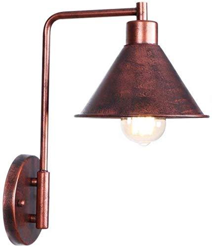 Lámpara de pared de hierro forjado industrial con focos de pared de jaula de óxido para baño Bar Cafe Club Bedside Hotel E27 Apliques de pared