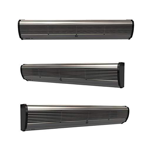 Vortice Air DOOR luchtkoeler, lemmet 2 ventilatoren, laag stroomverbruik, afstandsbediening, 2 snelheden, voorraadvermogen AD900 (90 CM) Grijs