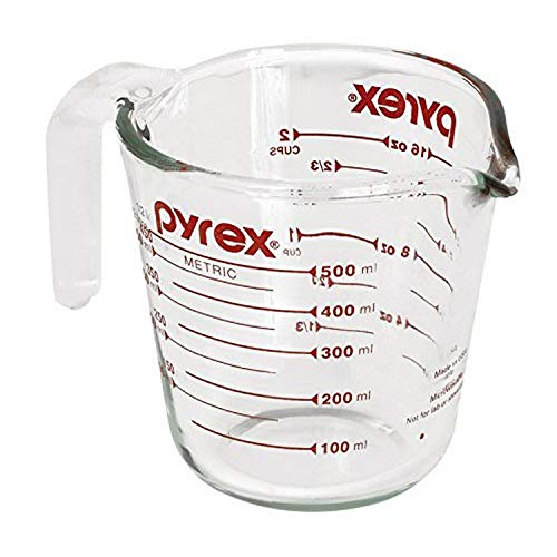 Pyrex 1118440 B0002ITQHS Add Consistency to Your Kitchen 2 Cup That is Sturdy Read. Measurement Indicators and The Easy t, Glass, 1 pounds, Transparent