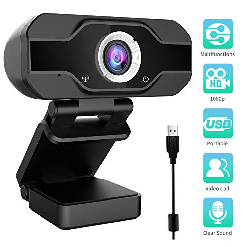 Aiglam Webcam, USB Webcam,PC Webcam Full HD con Microfono Stereo elecamera PC...
