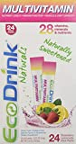 EcoDrink Naturals - Naturally Sweetened Complete Multivitamin Mix Drink - Strawberry/Lemonade Refill Pack. (24 Sticks)