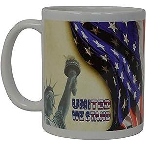 La mejor taza de café Bandera de EE. UU. Estatua de Estados Unidos Estamos de pie American Patriot Novedad Copa Regalo para hombres Papá Padre Marido Conservador