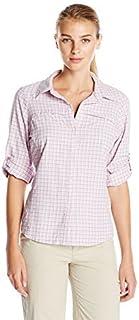 Columbia Sportswear Womens Silver Ridge Plaid Long Sleeve Shirt, Blossom Pink, Large
