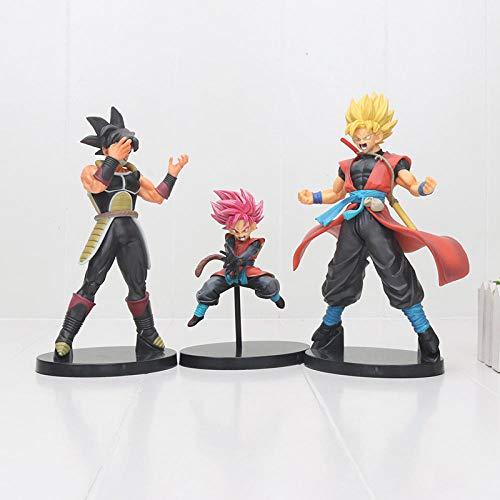 CXNY 14cm-22cm Anime Super Dragon Ball Heroes Super Saiyan Goku Gohan Burdock 7th Annversary PVC Figura de acción Modelo Juguetes 3pcs / Set