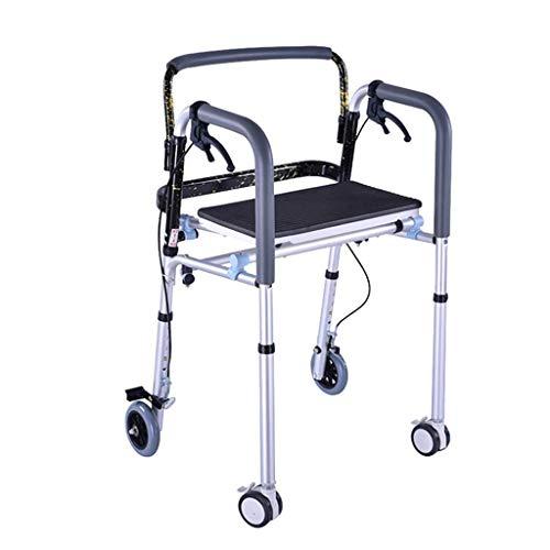 JALAL Standard Walkers Wheel Rollator Walker Allrad-Laufrad für ältere Männer Walker Fracture Frame Pulley mit Handbremse Steh auf Walking Frames Behindertenläufer mit Rädern