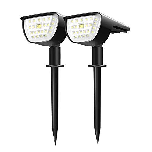 WHOHO Focos solares de Paisaje - 32 LED lámpara de césped inalámbrica,...