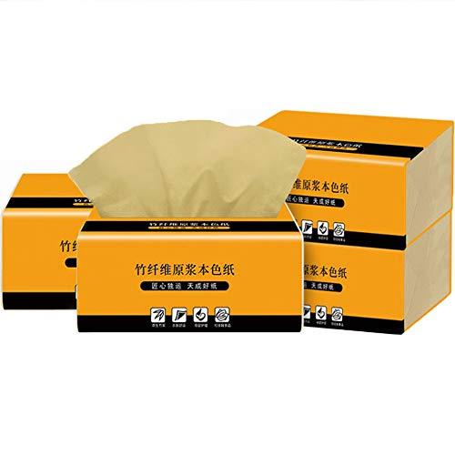 AMACOAM Kosmetiktücher Papier Taschentuch Bambus Taschentücher 3-lagig Papiertaschentücher Weiche Serviette Handtücher Toilettenpapier Handtuch Papier Perfekt für Nase 240 Blatt Papierhandtücher 4Pack