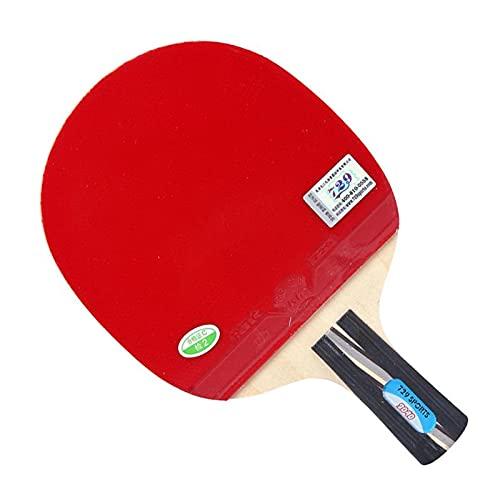 Raquette tennis de table Table de tennis raquette fini de raquette de tennis de tennis en caoutchouc d'acné avec des cadeaux (sac + ballon) Raquette tennis de table junior ( Color : Short handle )