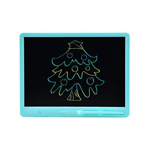 Not application Tablero de Escritura LCD con lápiz óptico, Tableta de Escritura LCD de 15 Pulgadas, Pizarra electrónica educativa, Almohadilla gráfica Anti-borrado, Azul