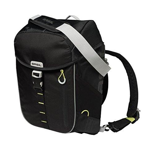 Basil Unisex– Erwachsene Miles Fahrradtasche/Fahrradrucksack, Black Lime, 31 cm x 17 cm x 44 cm