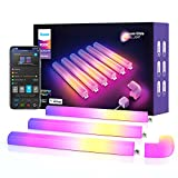 Govee Glide RGBIC Smart Wall Light, Multicolor Customizable, Music Sync Home Decor LED Light Bar for Gaming and Streaming, with 40+ Dynamic Scenes, Alexa and Google Assistant, 6 Pcs and 1 Corner