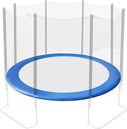 Alfombrilla de Seguridad de Cama elástica Redonda Azul PE, Cojín Protector para trampolín, Cubierta para Cama elástica Borde resortes trampolín,14FT