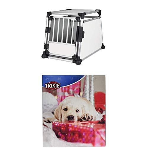 Trixie 39342 Transportbox, Aluminium, 63 x 65 x 90 cm + Adventskalender für Hunde