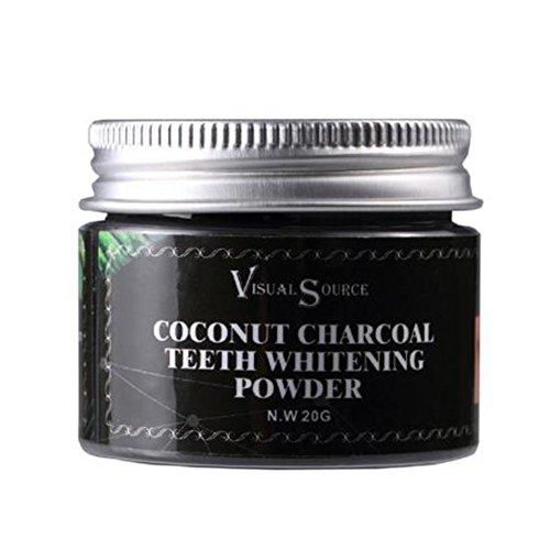 Dientes que blanquean el polvo de carbón de leña Polvo de carbón activado natural orgánico que blanquea los dientes del polvo para los dientes más blancos más limpios sanos