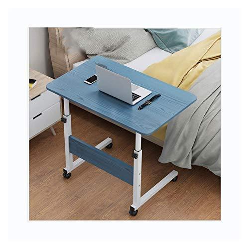 Mesa De Ordenador Escritorio De Computadora para Hogar Oficina Altura Ajustable Mesa Compacta Mesa Plegable Sofa (Color : A Blue 60X40)