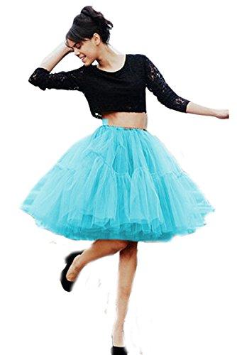 SCFL adulti Balletto di ballo multi-strato morbido chiffon sottogonna in tulle tutu delle donne Gonna Gonna Puffy