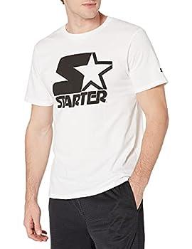 Starter Men s Short Sleeve Logo T-Shirt Amazon Exclusive White Extra Large