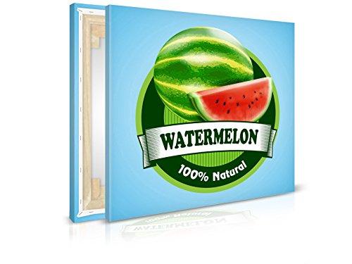 XXL-behang canvasfoto watermeloen sticker - klaar opgespannen - schilderijen, kunstdruk, wandschildering, spieraam, afbeelding op canvas van trendmuren 60x60cm