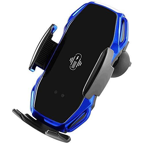 YIBOKANG Cargador de automóvil inalámbrico, sensor inteligente de carga rápida 10W, soporte automático de teléfono móvil, soporte de ventilación de automóviles, adecuado para teléfonos móviles con fun
