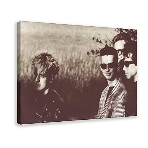 Depeche Mode Rock Band Punk Vintage Photo Canvas Poster Wall Art Decor Cuadros para sala de estar dormitorio decoración Marco: 60 x 90 cm