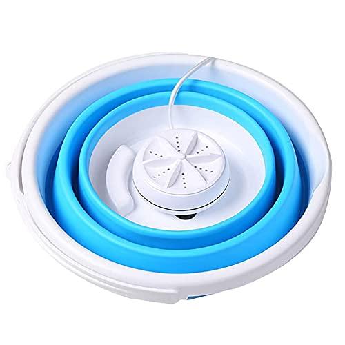 Sits Mini Lavadora - Lavadora Ultrasónica Lavadora de Turbina Plegable Portátil Limpiador de Lavandería USB para Ajustar la Ropa - Viajes de Negocios, Viajes, Camping